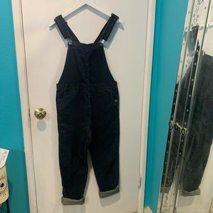 Gap 1969 chambray overalls dark wash very soft
